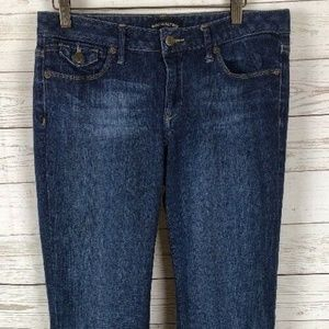 Banana Republic Women's Boot Cut Distressed Blue